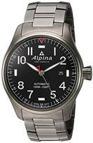 Alpina Men's Startimer Pilot Swiss Automatic Aviator Watch with Stainless Steel/Titanium Strap