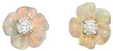 Irene Neuwirth One-Of-A-Kind Carved Opal Flower Stud Earrings