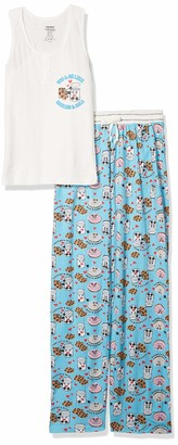 Carnival Women's Tank Top and Long Pant Pajama Set