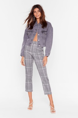 Nasty Gal Womens One Check at a Time Tapered Trousers - Black - L