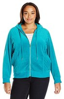 Calvin Klein Women's Plus Size Hoodie with Quilted Side Panel
