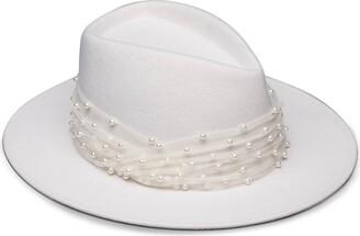 Eugenia Kim Blaine Imitation Pearl Embellished Wool Fedora