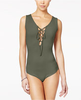 Say What Juniors' Sleeveless Lace-Up Bodysuit