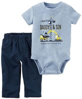 "Carter's Baby Boy Daddy & Son"" Bodysuit & Pants Set"