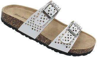 Alexis Bendel Women's Sandals WHITE - White Dual Strap Peggy Sandal - Women