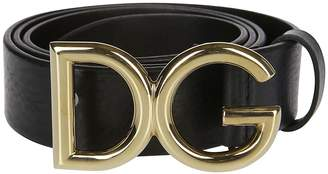 Dolce & Gabbana Vintage Gold Logo Belt