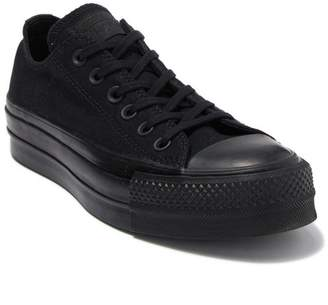 Converse CTAS Clean Lift Ox Black Platform Sneaker (Women)