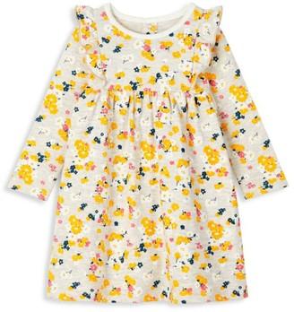 Petit Bateau Baby Girl's Ruffle Floral Dress