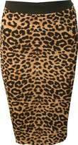 WearAll Women's Print Bodycon Midi Skirt - US 4-6 (UK 8-10)