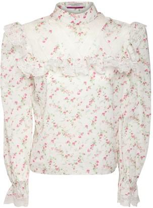 Philosophy di Lorenzo Serafini Libery Ruffled Cotton Shirt