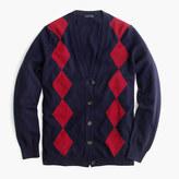J.Crew Italian cashmere boyfriend cardigan sweater in argyle