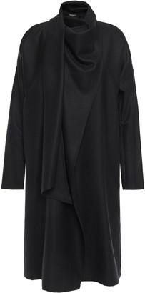 Ann Demeulemeester Draped Pinstriped Wool-blend Twill Dress