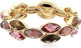 "Anne Klein Sandy Shores"" Gold-Tone -Stretch Bracelet"