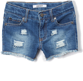 DKNY Canal St Wash Frayed Rip Shorts - Girls