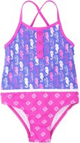 Hatley Color Block Swimsuit-Seahorses-5