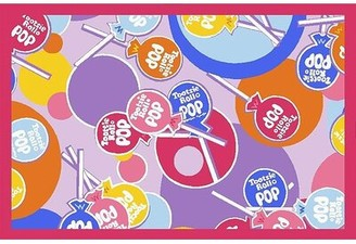 "Fun Rugs Tootsie Roll Pop Pink Area Rug Rug Size: 1'7"" x 2'5"""