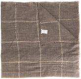 Brunello Cucinelli grid check scarf