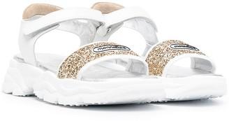 MonnaLisa TEEN glitter sandals