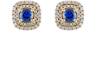 Heritage 18K 1.40 Ct. Tw. Diamond & Sapphire Earrings