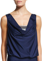 Luxe by Lisa Vogel Premier Draped Tankini Top