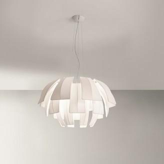 Orren Ellis Burruss 3-Light Unique / Statement Geometric Chandelier Shade Color: Neutral White
