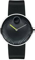 Movado 40mm Edge Watch with Rubber Strap, Black/Green