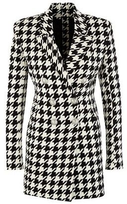 Balmain Hounds tooth jacket dress