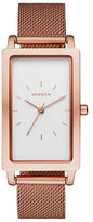Skagen Hagen Rectangle Rosetone Stainless Steel Watch