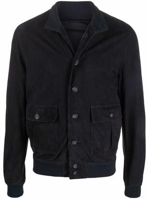 Valstar Button-Up Leather Shirt Jacket