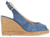 Castaner sling-back wedge sandals - women - Cotton/Leather/rubber - 37