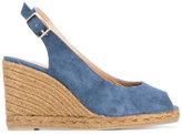 Castaner sling-back wedge sandals - women - Cotton/Leather/rubber - 38