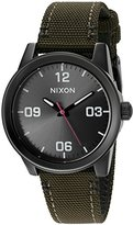 Nixon Women's 'G.I.' Quartz Stainless Steel and Nylon Automatic Watch, Color:Green (Model: A9641462-00)