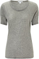 James Perse Heather Grey Cotton T-shirt