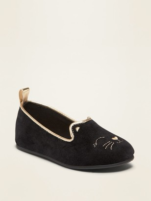 Old Navy Fauix-Suede Cat Ballet Flats for Toddler Girls