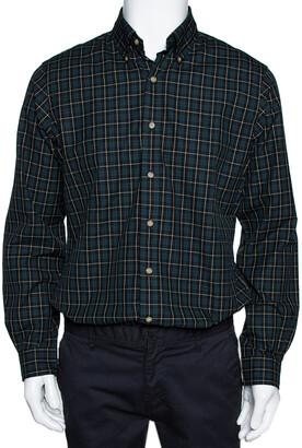 Ralph Lauren Green Checked Cotton Custom Fit Shirt M