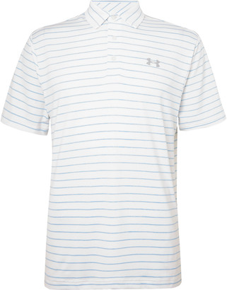 Under Armour Playoff 2.0 Striped Heatgear Golf Polo Shirt