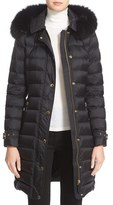 Burberry Ashmoore Down Puffer with Genuine Fox Fur Trim