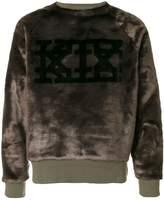 Kokon To Zai faux fur logo sweatshirt
