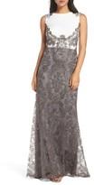 Tadashi Shoji Women's Two-Tone Corded Tulle Gown