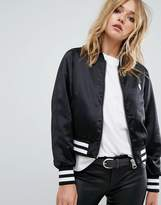 Cheap Monday Bomber Jacket with Tipping and Skull Logo