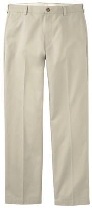 L.L. Bean Men's Wrinkle-Free Double LA Chinos, Natural Fit Hidden Comfort Plain Front