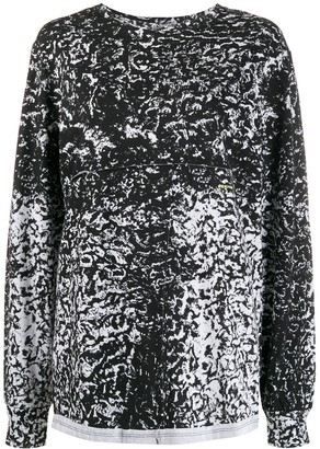 Eckhaus Latta Long Sleeve Textural Printed Jumper