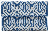 The Well Appointed House Blue & White Beaded Envelope Clutch