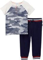 Splendid Camo Jersey Tee & Pant Set (Baby Boys)