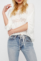 Free People Lace Quarter Length Top