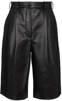 Acne Studios Leather Bermuda shorts