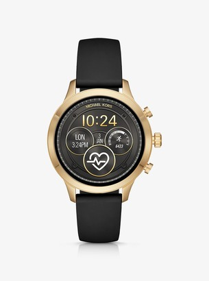 Michael Kors Runway Heart Rate Gold-Tone and Silicone Smartwatch