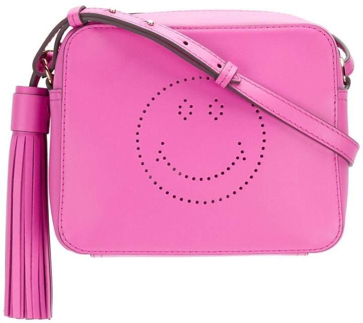 Anya Hindmarch perforated smiley shoulder bag