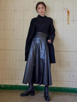Long Leather Skirt - ShopStyle