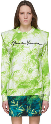 Versace Green Tie-Dye Signature Sweater